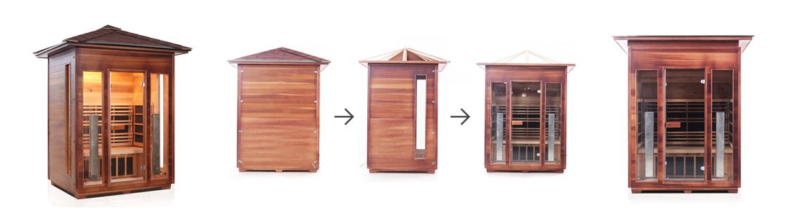 Guru Sauna Difference :: Outdoor vs Indoor infrared sauna